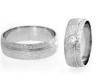 079 - Poročna prstana z diamanti